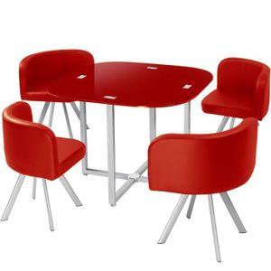 TABLE À MANGER COMPLÈTE Table et chaises Mosaic 90 Rouge