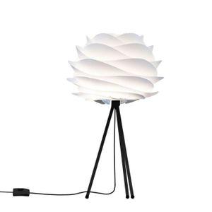 LAMPE A POSER CARMINA-Lampe à poser Trépied Noir Ø32cm Blanc Vit