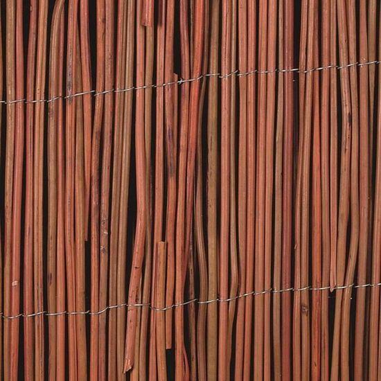 Panneaux de cloture Nature Cloture de jardin Osier 5 mm 2 x 5 m ...
