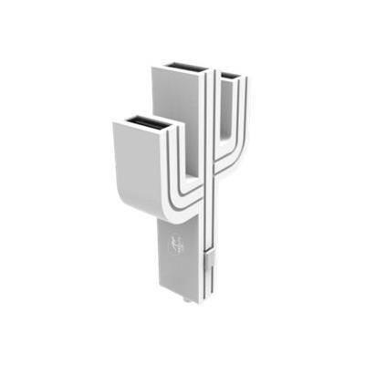 ML Chargeur allume cigare Cactus - 3 ports - Blanc