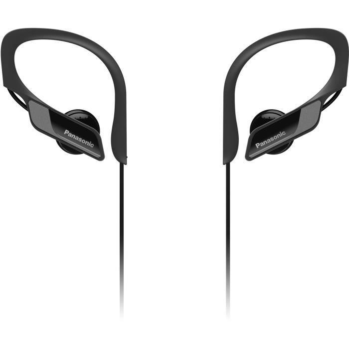 PANASONIC BTS10 Écouteurs Sport sans fil Bluetooth - Micro intégré - Résistants aux éclaboussures - Noir