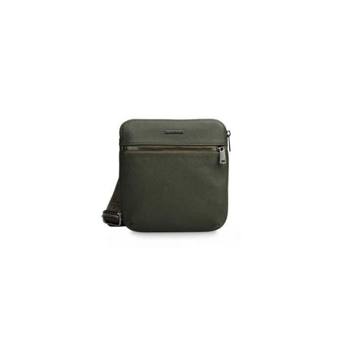 Le sac Homme sac à bandoulière Armani Jeans en PU saffiano effet - Colore:Verde Color:Ve