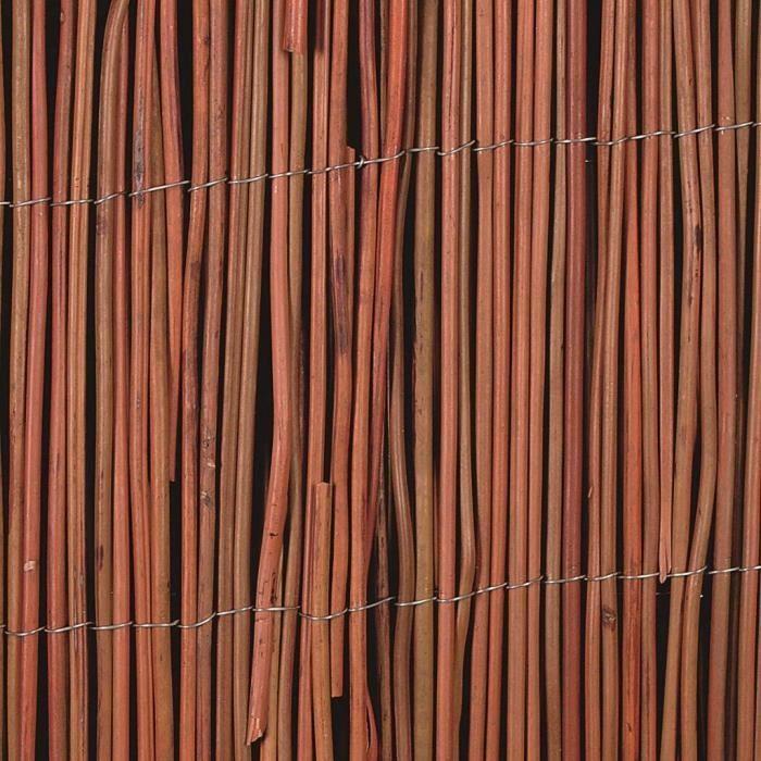 Panneaux de cloture Nature Cloture de jardin Osier 5 mm 2 x ...