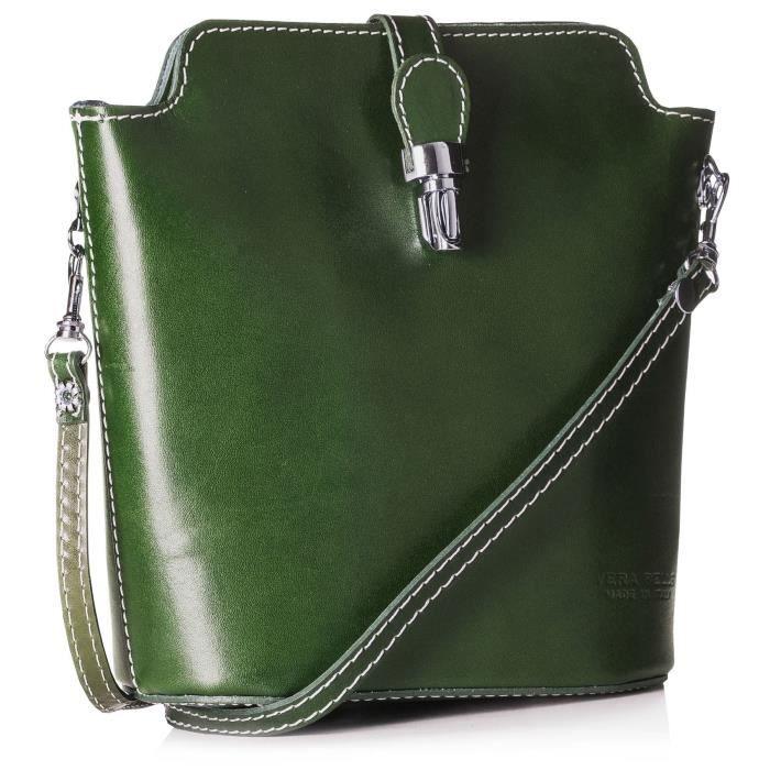 Petit Mini cuir véritable Sac bandoulière en plaine, autruche ou crocodile design QS0AD