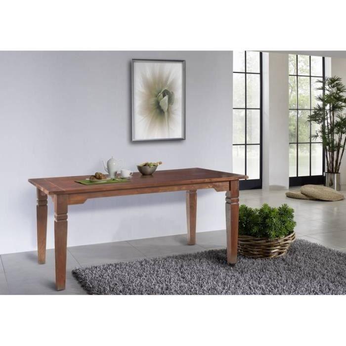 Table extensible 140-220x90cm, 4 à 8 Personnes, Bois Massif ...