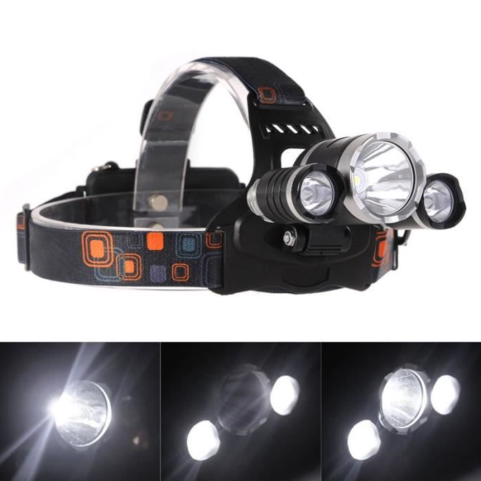 Lampe Frontale Led Puissante Rechargeable Luminaire 6000 Lumens 3t6