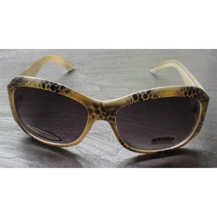 lunette de soleil femme arrondi leopard beige pin up rockab