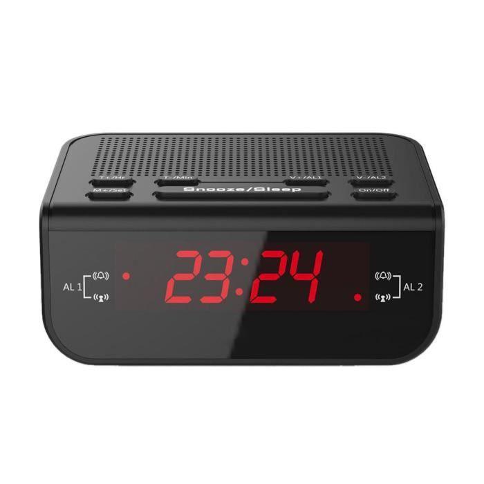 Radio-réveil Numérique Fm Avec Double Alarme Snooze Sleep Time Function