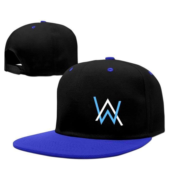 style exquis nombreux dans la variété Vente au rabais 2019 DJ Alan Walker Faded Casquette plate pour casquettes de baseball à imprimé  ajustable Snapback Bleu