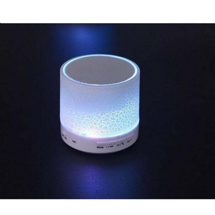 (blanc) Dazzle Mini Haut-parleurs Légers Haut-parleur Portable Bluetooth Sans Fil Subwoofer Mobiles De Cartes