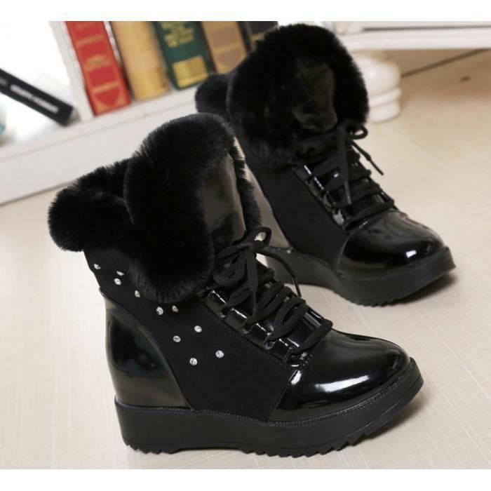 Bottes de coton Femme imperméables bottes de neige Bottes de strass.