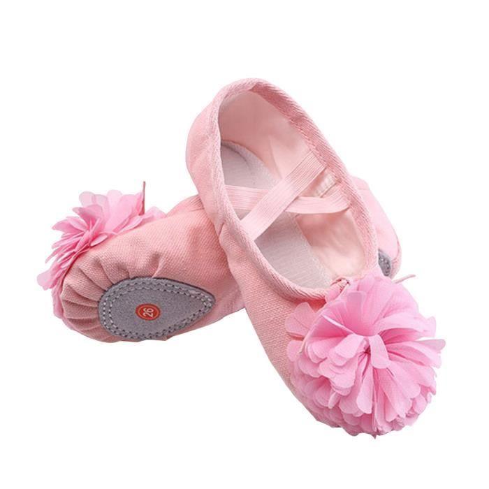 Chausson Danse gemvie chaussons de danse enfant fille chaussures de ballet floral