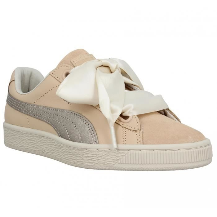 Basket Puma naturel Femme Cuir Baskets Heart 38 vp5wUxZx