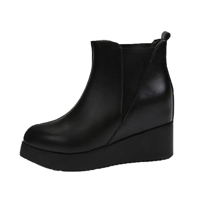 Noir De Haute love2438 Talons Dans Bottines Boots Chaussures Martin Couture Beguinstore La Femme PAFS5q