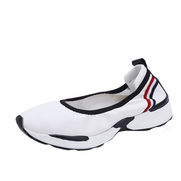 Shoes Lazy Chaussures Blanc Casual Slip Mode Mocassins Sneakers Respirant Flats Femmes xZqaBwYR
