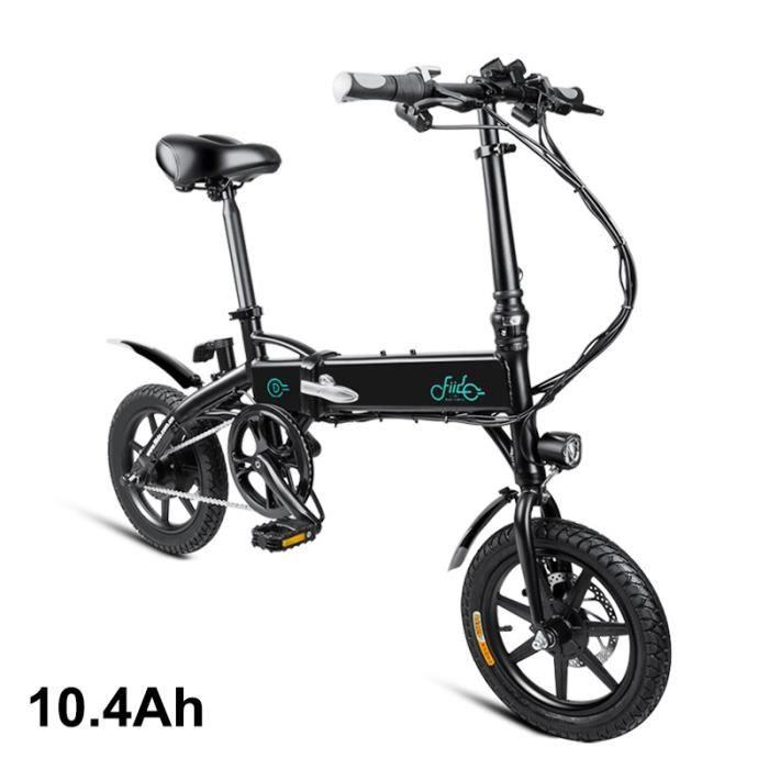 21097f3b4ae14 FIIDO D1 10.4 Ah Mini Vélo pliant électrique pliable vélo sécuritaire  réglable portable pour le cyclisme