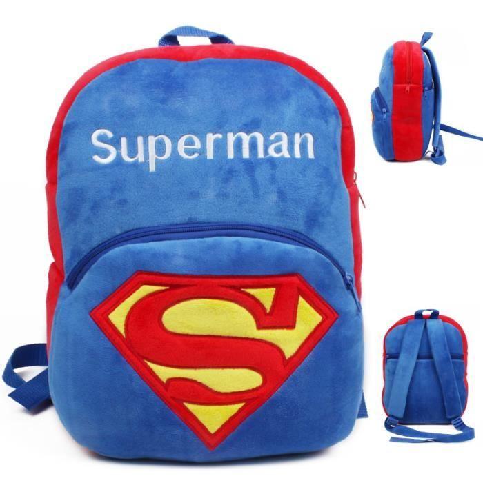 Superman Cartoon enfants jouets en peluche sac à dos cadeaux pour enfants de la maternelle Cartable bébé sacs étudiants