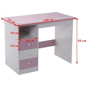 bureau enfant rose blanc achat vente bureau enfant rose blanc pas cher soldes d s le 10. Black Bedroom Furniture Sets. Home Design Ideas