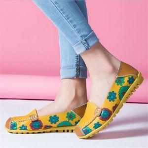 Mocassins Femmes Printemps ete Cuir Chaussures DTG-XZ056Orange38 M7zsQEzZuc
