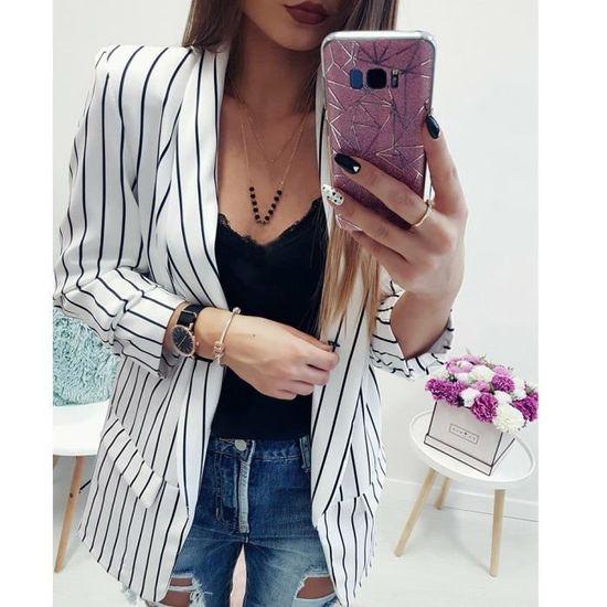 À Rwq5972 De Manches Style Duster Blazer Pour Veste Manteau Longues Femmes CRawqPAq