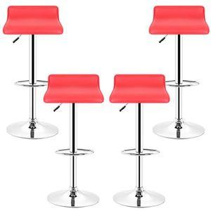 0f1be4f2f3450 TABOURET DE BAR Tabouret de bar - rouge Chaise de bar PU - 4pcs