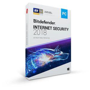 BUREAUTIQUE À TÉLÉCHARGER BITDEFENDER Internet Security 2018 - 1 an - 1 PC -