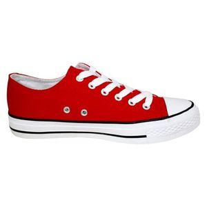8d693d045633 Baskets basses à lacets homme Rouge Rouge Rouge - Achat / Vente ...