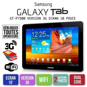TABLETTE TACTILE SAMSUNG GALAXY TAB GT-P7500 10 POUCE  3G WIFI