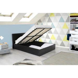 Structure de lit achat vente structure de lit pas cher cdiscount - Lit coffre pas cher 160x200 ...