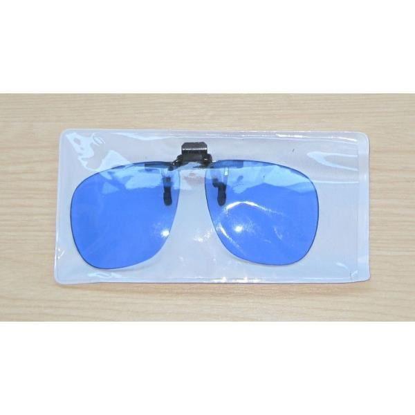 Clip lunettes VITAEASY verres teintes bleues - Spéciales TV et ordinateur - Livrés sous étui plastique