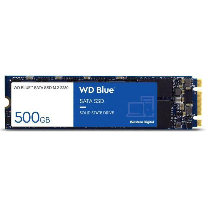 WD Disque dur Blue™ SSD - 3D Nand - Format M.2/2280 - 500 Go