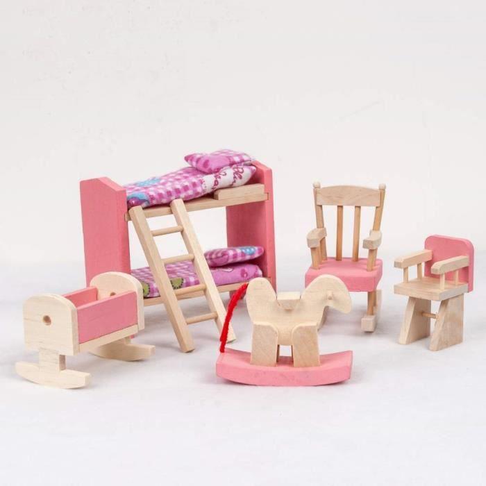 jouet maison en bois a construire achat vente jeux et jouets pas chers. Black Bedroom Furniture Sets. Home Design Ideas
