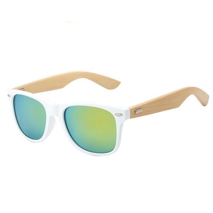 lunettes de soleil mixte homme et femme de Fashion en Retro sunglasses Moderne Cadre marque de Luxe Blanc/Golden