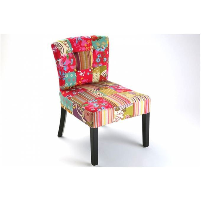 Fauteuil design patchwork lilly Achat Vente fauteuil Cdiscount