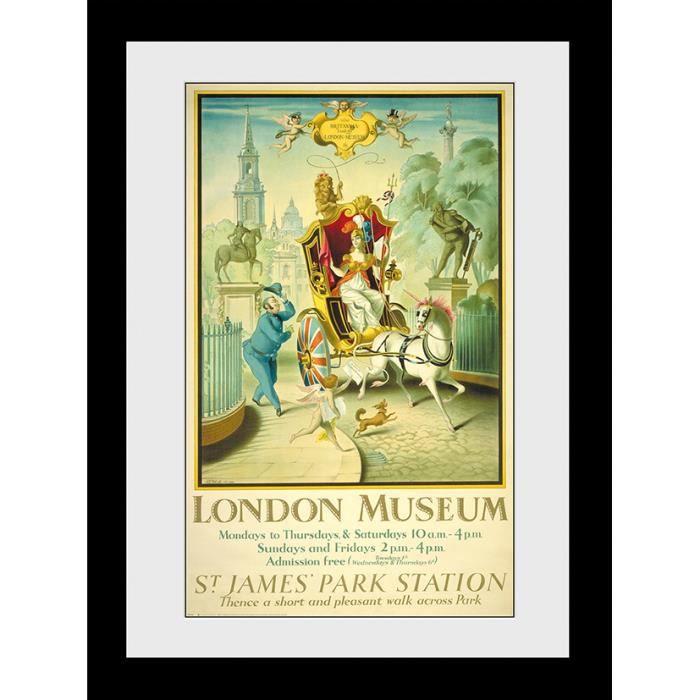 Photographie encadrée Transport For London Musée de Londres 50x70cm