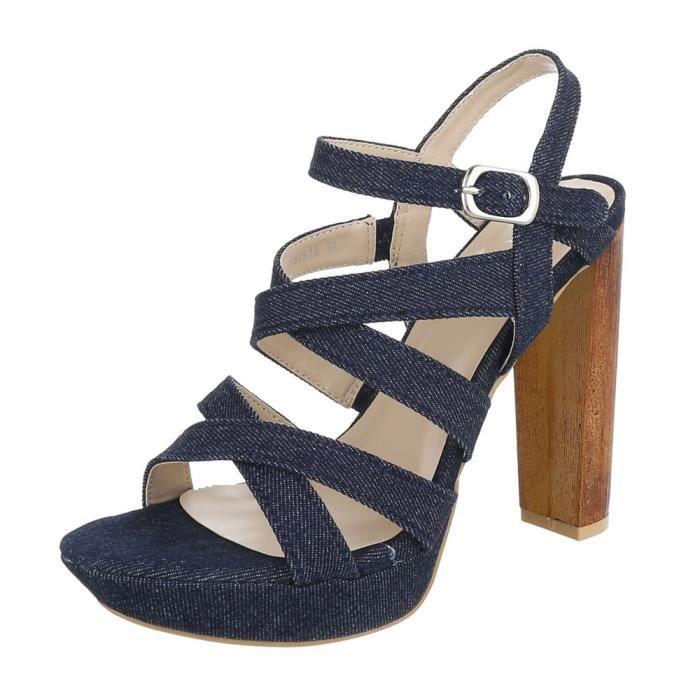 Clair High Foncé Heels Plateau 41 Talons Escarpin bleu À Chaussures Femme Sandale Foncé Bleu Hauts q1WxwXSn6U