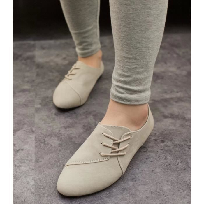 MOCASSIN XZ639A6XZ639A6Femmes Sexy Casual Toe Pointu lacer