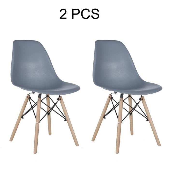 2pcs Chaises Nordic Design Eiffel Dsw 81 X 46 X 40cm Achat Vente