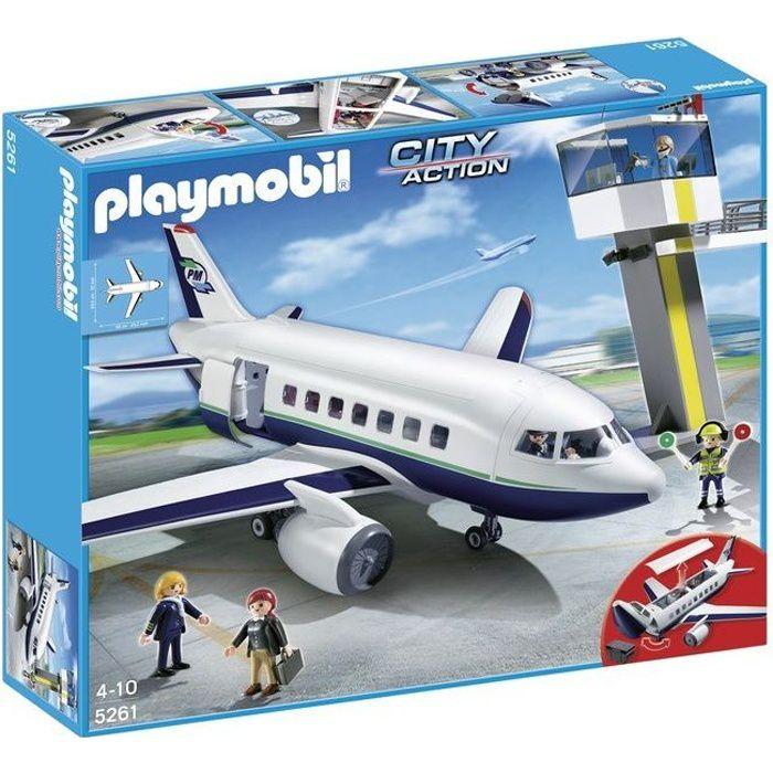 playmobil 5261 avion et tour de contr le achat vente univers miniature cdiscount. Black Bedroom Furniture Sets. Home Design Ideas