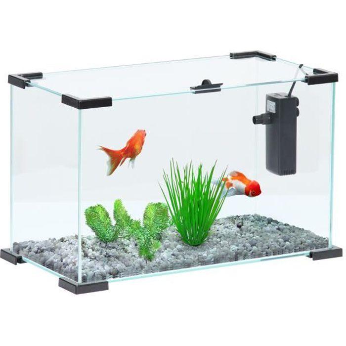 Aquarium avec filtre pour poisson rouge achat vente for Aquarium pour poisson rouge pas cher