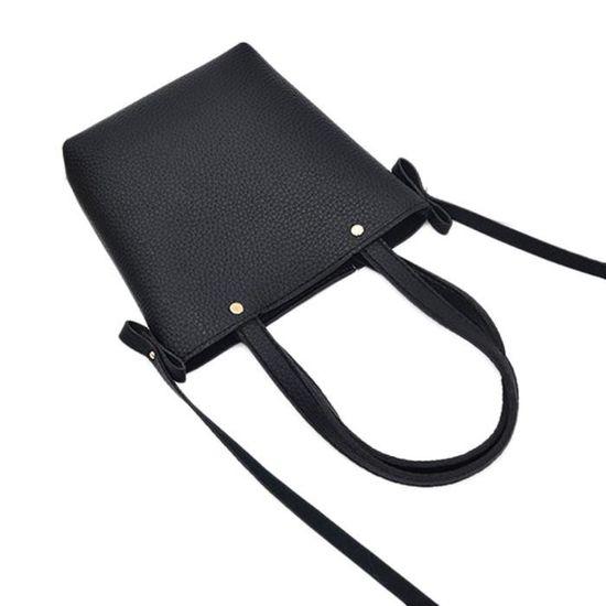 Croix port1045 Main Modèle à Litchi Corps Bk Sacs Sac Cuir Dedasing® Noir Femme 0Zqx7