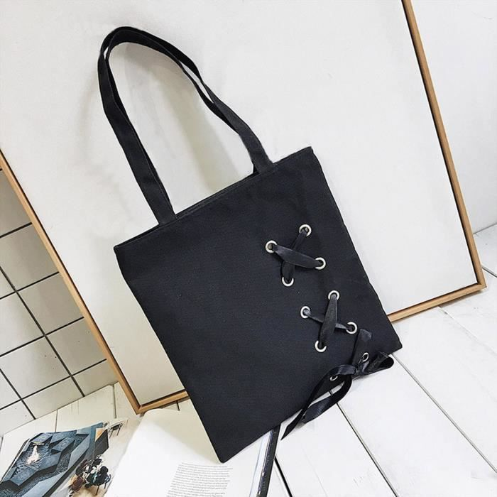 Casual Canvas Women's Bags up Shoulder Tote Lace Pageare3732 Bk Single Female xRwH7wqZ