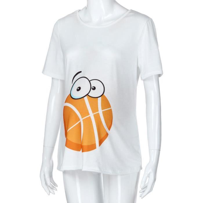 Blanc Pour D'allaitement Casual shirt Femmes T Blouse Imprimer De Bébé Pregnants Maternité fHqwYP74