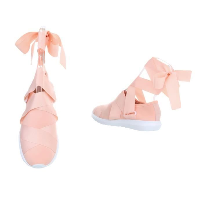 femmes chaussures Loisirs Chaussures Sneakers Rose clair 36