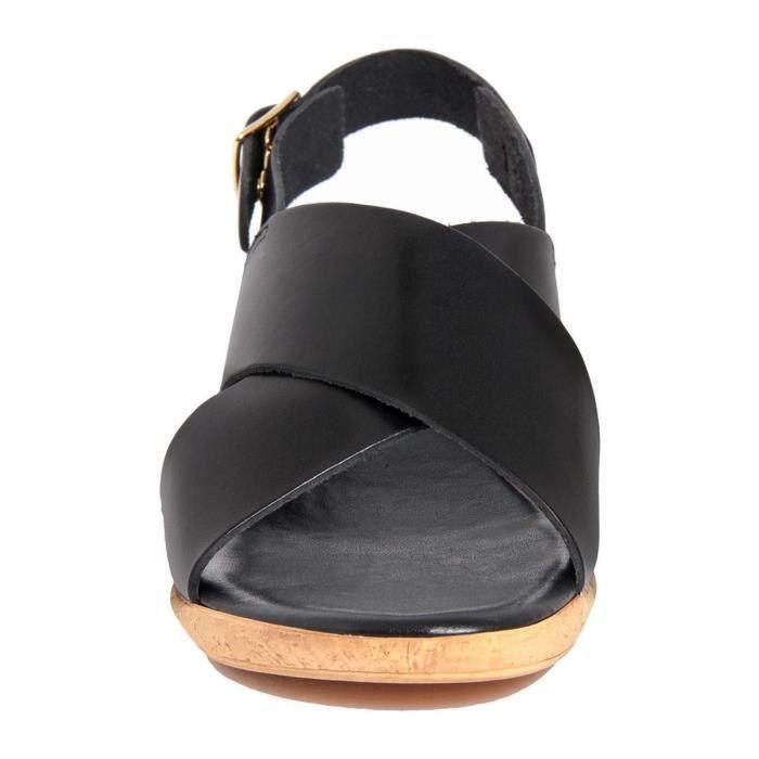 Compensées en cuir - noir HPwzRt