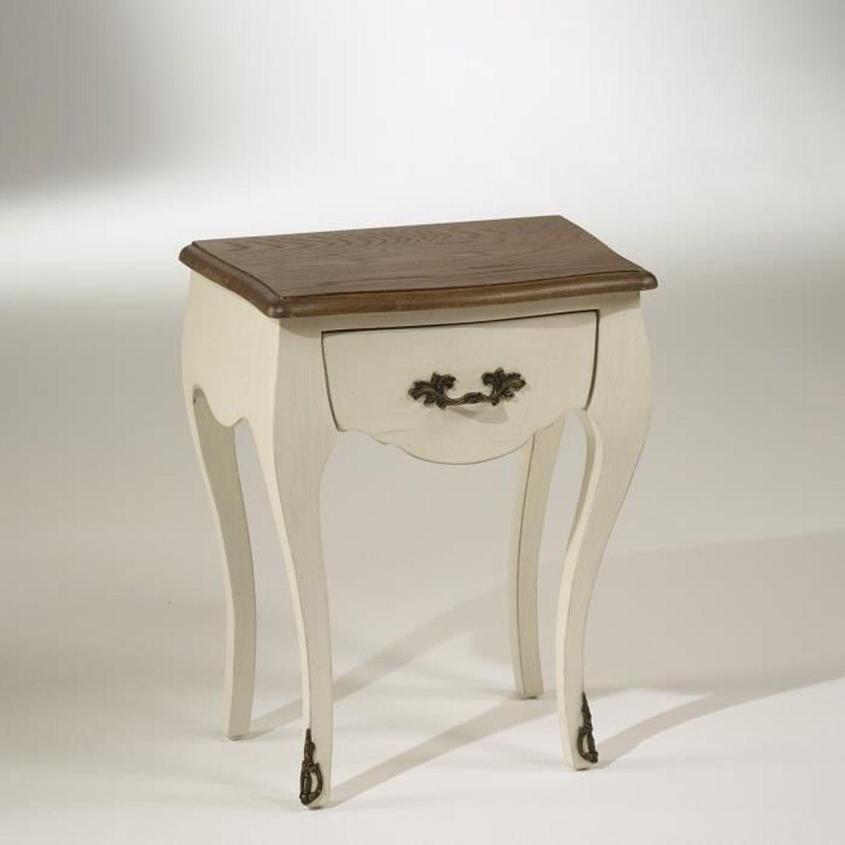 chevet blanc d ivoire 1 table de chevet contemporaine en bois en m tal rectangulaire. Black Bedroom Furniture Sets. Home Design Ideas