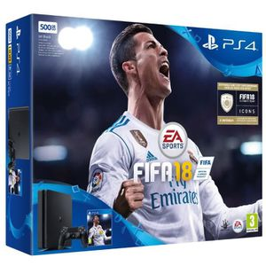 CONSOLE PS4 Nouvelle PS4 Noire 500 Go + FIFA 18