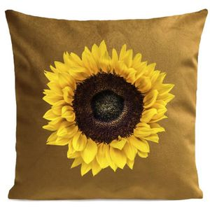COUSSIN ARTPILO - Coussin SUN FLOWER Coton déperlant - Jau