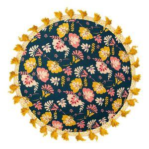COUSSIN - MATELAS DE SOL Coussin de sol rond Flower Power 45 X 45 Multicolo