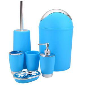 Accessoires salle de bain bleu - Achat / Vente pas cher